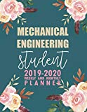 Mechanical Engineering Student: 2019-2020 Weekly and Monthly Planner Academic Year with Clas...