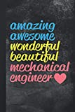 Mechanical Engineer: Funny Blank Lined Notebook Journal Gift