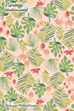 Flamingo Gratefulness Journal: Medium Sized Gratefulness Journal With Tropical Leaves Patter...