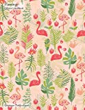 Flamingo Collector's Workbook: Large Notebook With Half White Half Lined Pages And Hand Draw...