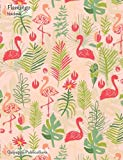 Flamingo Notebook: Standard Size College Ruled Composition Book With Hand Drawn Flamingo Pat...