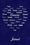 Personalized Journal - Connie: Royal Blue Leather Look Background