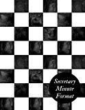 Secretary Minute Format: Meeting Minutes Notebook | Secretary Logbook Journal |Meeting Log |...
