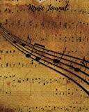 Music Journal: Empty Music Sheets| Song Writer's Composing Template| Stencil for Music Notes...