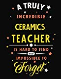 A Truly Incredible Ceramics Teacher Is Hard To Find and Impossible To Forget: Blank Line Tea...