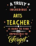 A Truly Incredible Arts Teacher Is Hard To Find and Impossible To Forget: Blank Line Teacher...