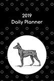 2019 Daily Planner: Doberman pinscher; agenda book