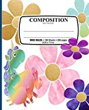 Composition Notebook: Unicorns Rainbow of Flowers Notebook for School Office home Student Te...