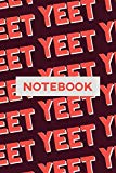 Notebook: Yeet Red Pink Typography Meme Pattern