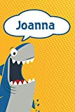 Joanna: Personalized Shark Handwriting Practice Paper for Kids notebook 120 pages 6