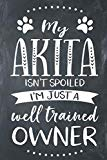 My Akita Isn't Spoiled I'm Just A Well Trained Owner: Akita Dog Composition Lined Notebook J...