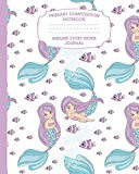 Primary Composition Notebook Midline Story Paper Journal: Mermaid Fish Notebook For Grades K...