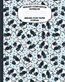 Primary Composition Notebook Midline Story Paper Journal: Panda Bears Notebook For Grades K-...