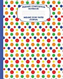 Primary Composition Notebook Midline Story Paper Journal: Polka Dots Notebook For Grades K-2...