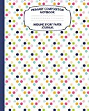 Primary Composition Notebook Midline Story Paper Journal: Rainbow Polka Dots Notebook For Gr...
