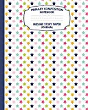 Primary Composition Notebook Midline Story Paper Journal: Rainbow Stars Notebook For Grades ...