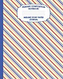 Primary Composition Notebook Midline Story Paper Journal: Rainbow Stripes Notebook For Grade...