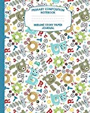 Primary Composition Notebook Midline Story Paper Journal: Robot Alphabet Notebook For Grades...