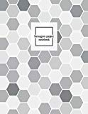 Hexagon Paper Notebook: Hex Grid Paper Graph Science Organic Chemistry Note Book Journal .5 ...