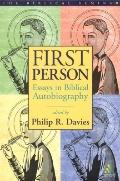 First Person Essays in Biblical Autobiography