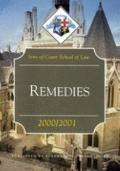 Remedies, 2000-2001 : Inns of Court School of Law