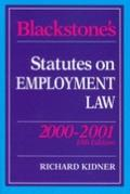 Blackstone's Statutes on Employment Law, 2000-2001