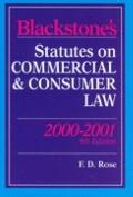 Blackstone's Statutes on Commercial and Consumer Law 2000/2001 (Blackstone's Statute Books)