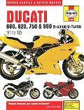 Ducati 600, 620, 750 & 900 2-valve V-twins '91 to '05