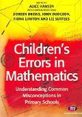 Children's Errors in Maths Understanding Common Misconceptions In Primary Schools