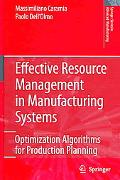 Effective Resource Management in Manufacturing Systems Optimization Algorithms in Production...