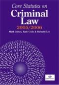Core Statutes on Criminal Law 2005-06