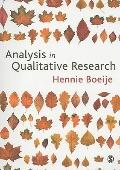 Analysis in Qualitative Research