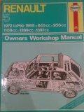 Renault 5 1972-85 Owner's Workshop Manual (Service & repair manual)