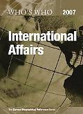 Who's Who in International Affairs 2007