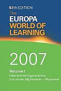 Europa World of Learning 2007