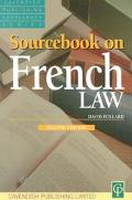 Sourcebook on French Law