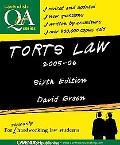 Torts Law Q&A 2005-2006 - David Green - Paperback - REV