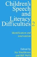 Children's Speech and Literacy Difficulties Identification and Intervention