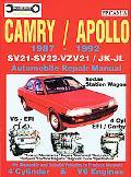 Toyota, Camry, Holden, Apollo Automotive Repair Manual 1987 To 1992