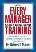 What Every Manager Should Know About Training An Insider's Guide to Getting Your Money's Wor...