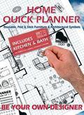 Home Quick Planner Reusable, Peel & Stick Furniture & Architectural Symbols