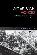 American Voices Readings in History and Literature