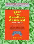 Your Tax Questions Answered 1998 A Cpa With over Twenty Years of Experience Answers the Most...