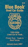 Kelley Blue Book Used Car Guide Consumer Edition 1992-2006 Models