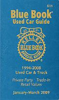 Kelley Blue Book Used Car Guide, Jan-June 2009: Consumer Edition