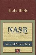 NASB Gift and Award Bible: New American Standard Bible Update, burgundy imitation leather