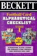 Football Card Alphabetical Checklist No. 1: Alphabetical Player Listings for Virtually Every...