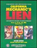 Preparing and Recording Your California Mechanic's Lien On Private Works of Improvement, Sec...