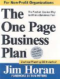One Page Business Plan for Non-Profit Organizations