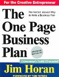 One Page Business Plan Start With a Vision, Build a Company!